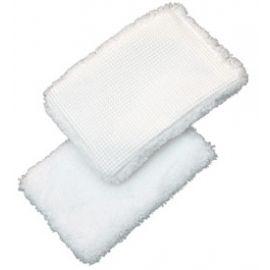 Microfaser DUO-Pad  10 x 15 cm   raue und feine Seite kratzfrei Bad Küche Kalk Camping